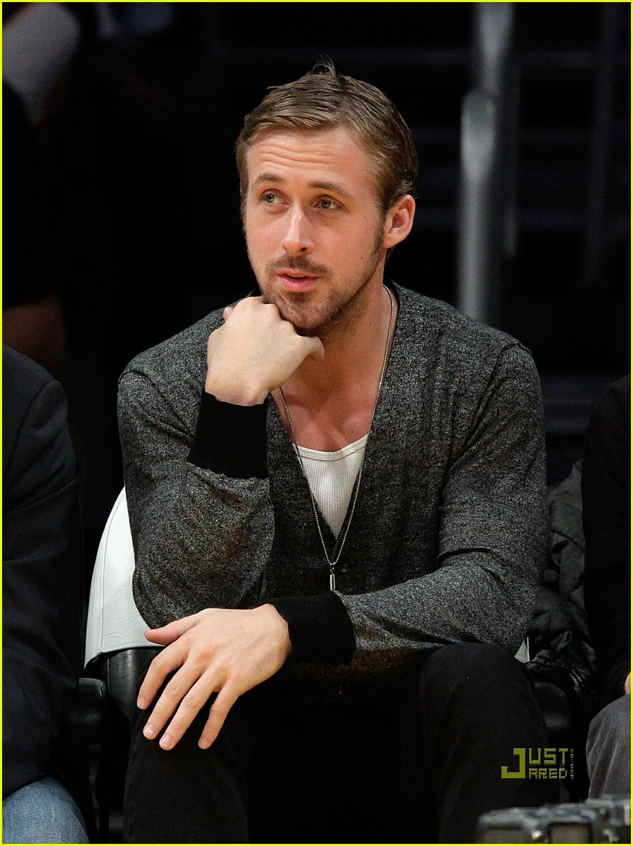ryan gosling los angeles lakers indiana pacers game 02