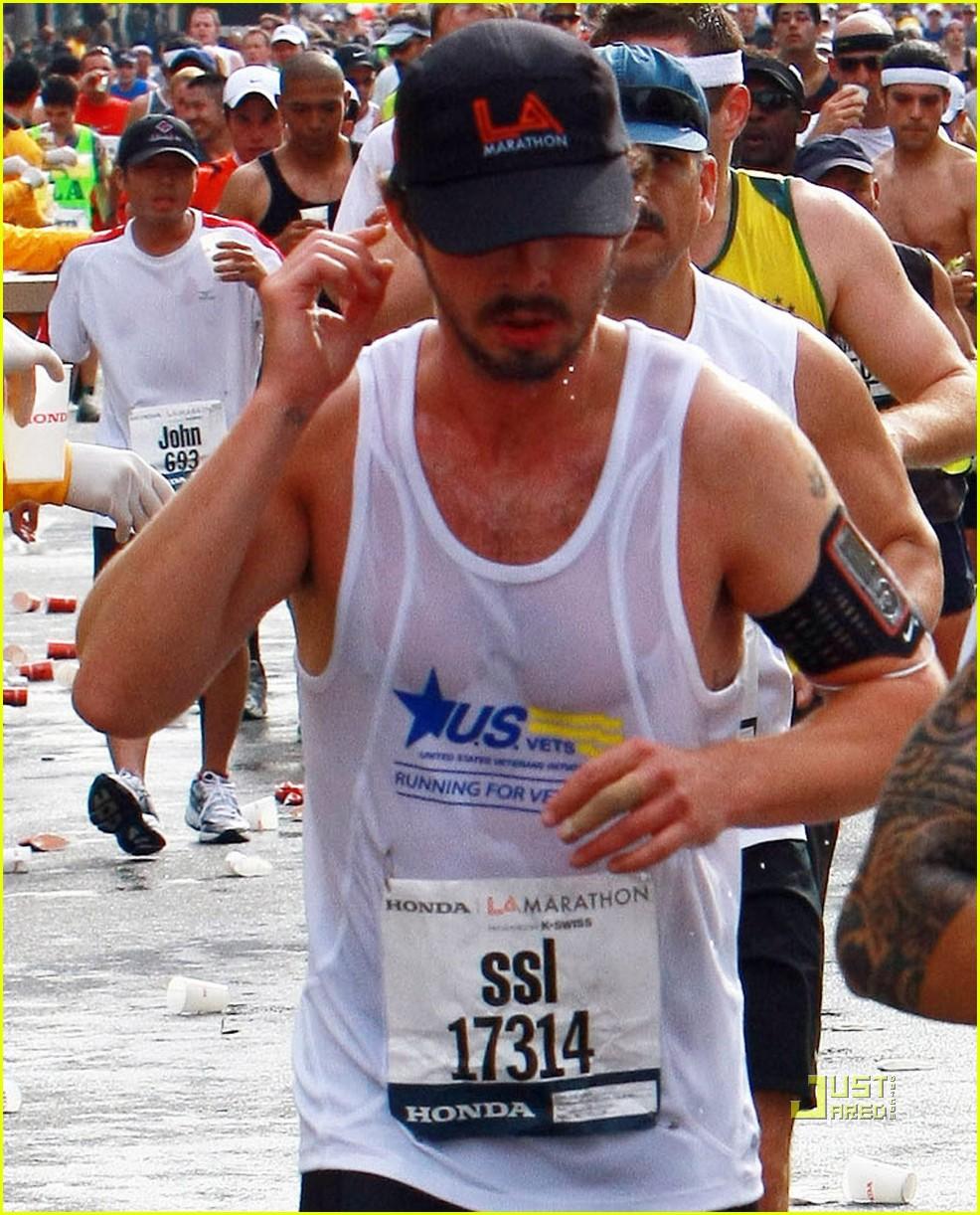 shia labeouf running los angeles marathon 252436388