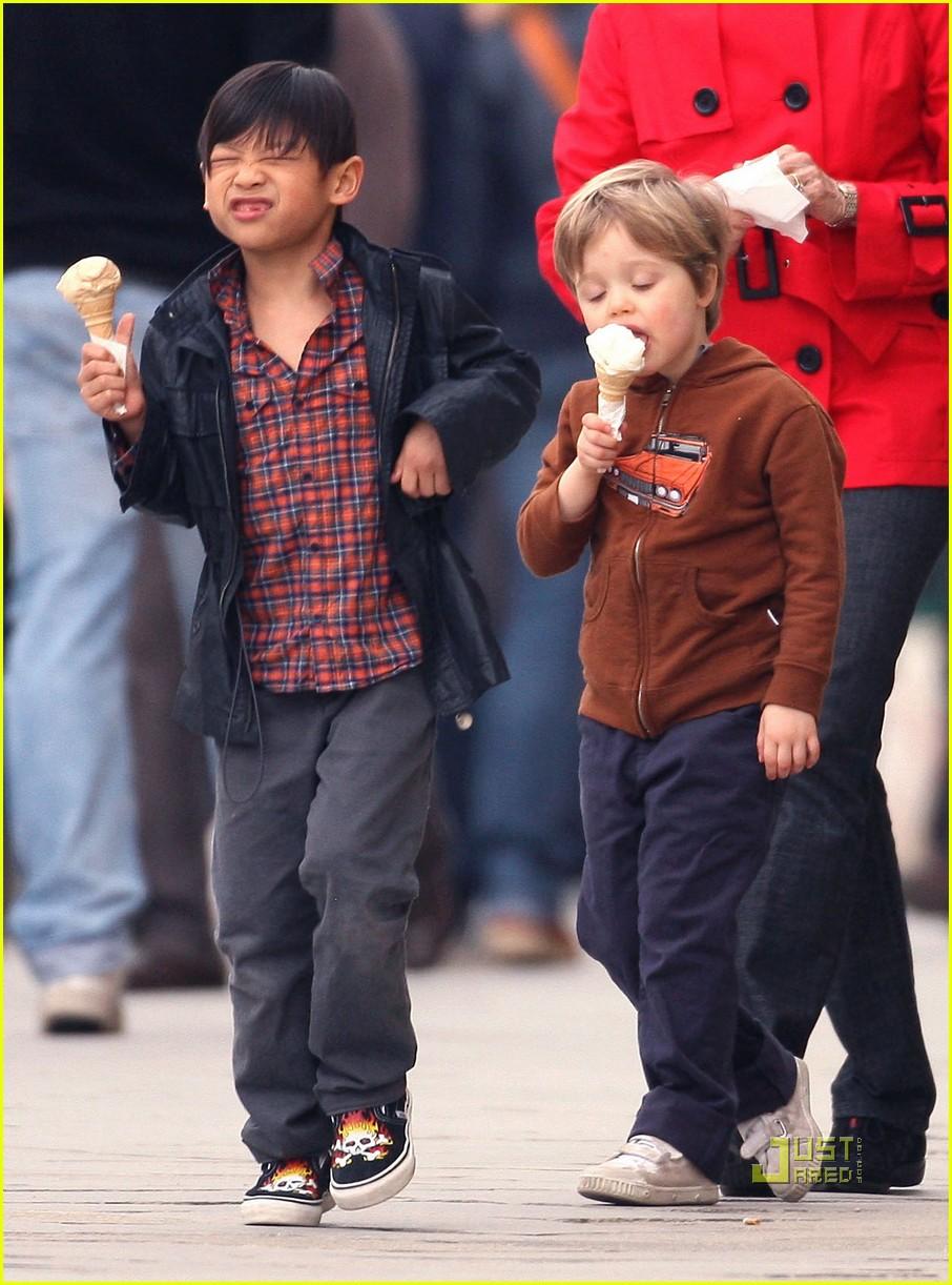 pax shiloh jolie pitt ice cream 102443890