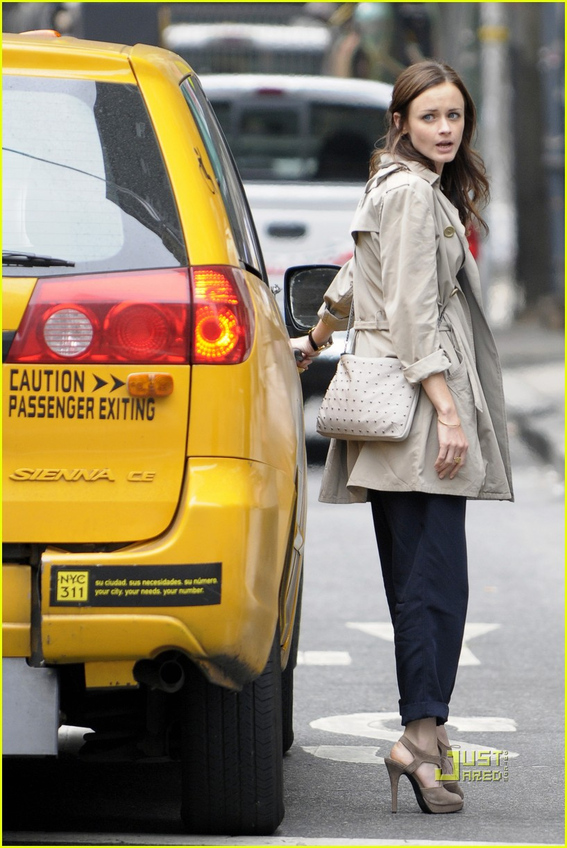 alexis bledel lunch friend nyc trenchcoat 052453449