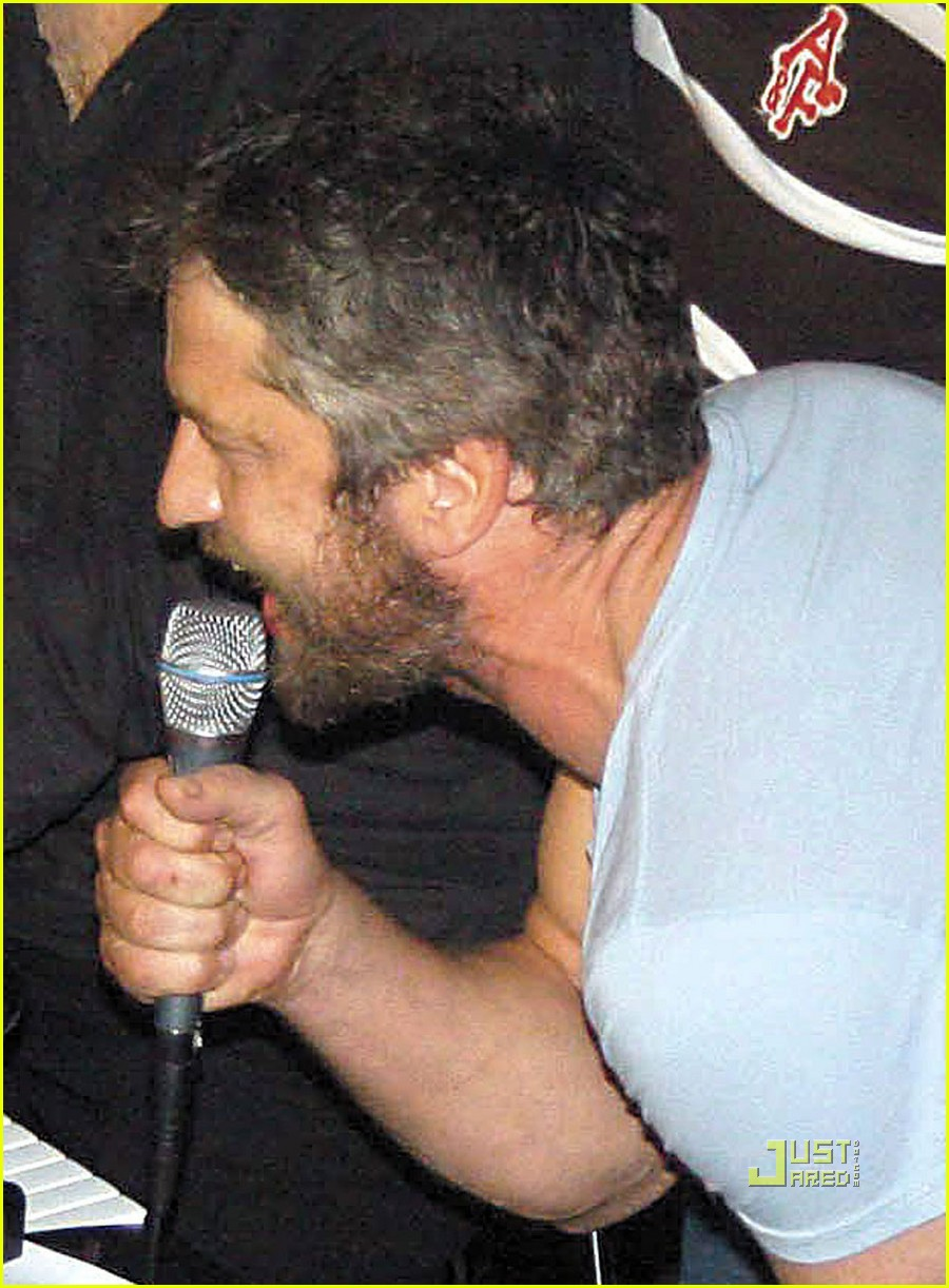 gerrad butler choked while singing 042449552