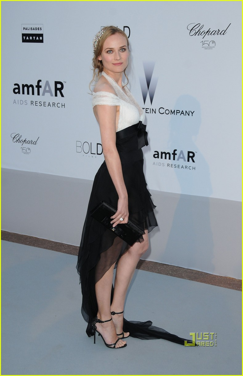 Full Sized Photo of diane kruger amfar gala 07