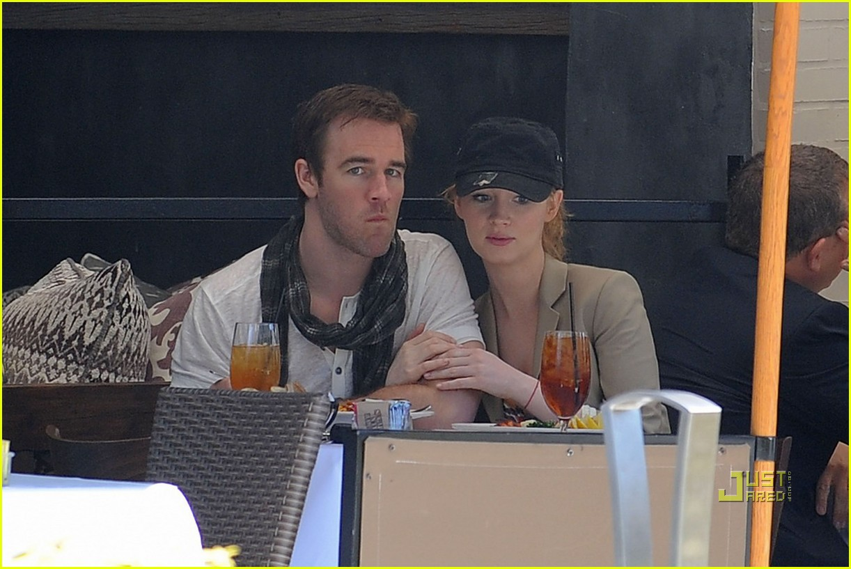 james van der beek kimberly brook kiss lunch 132450694