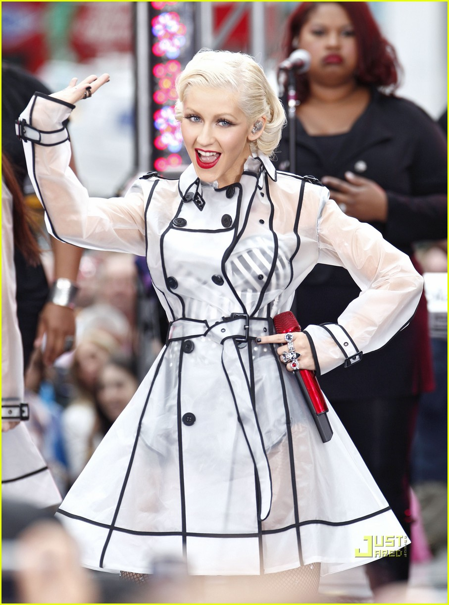 christina aguilera see through trench coat 062457568