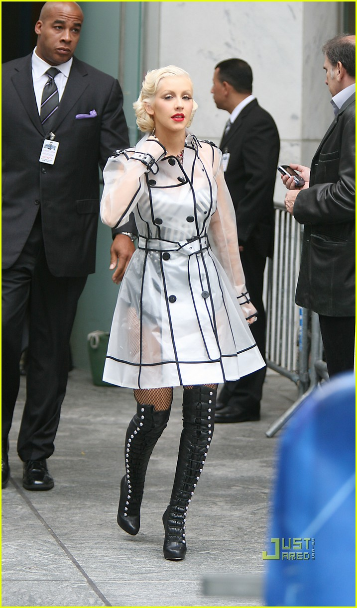 christina aguilera see through trench coat 072457569