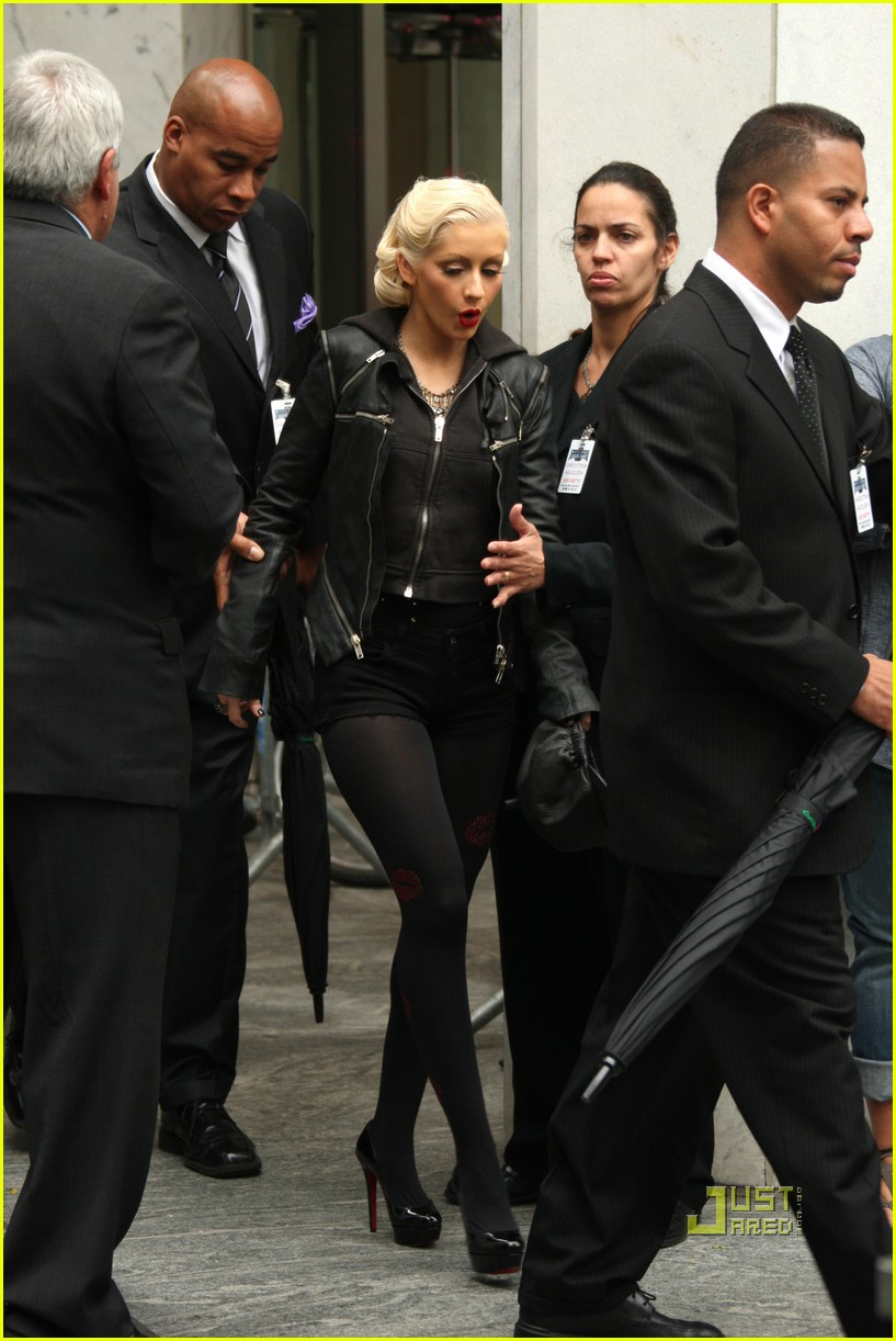 christina aguilera see through trench coat 082457570