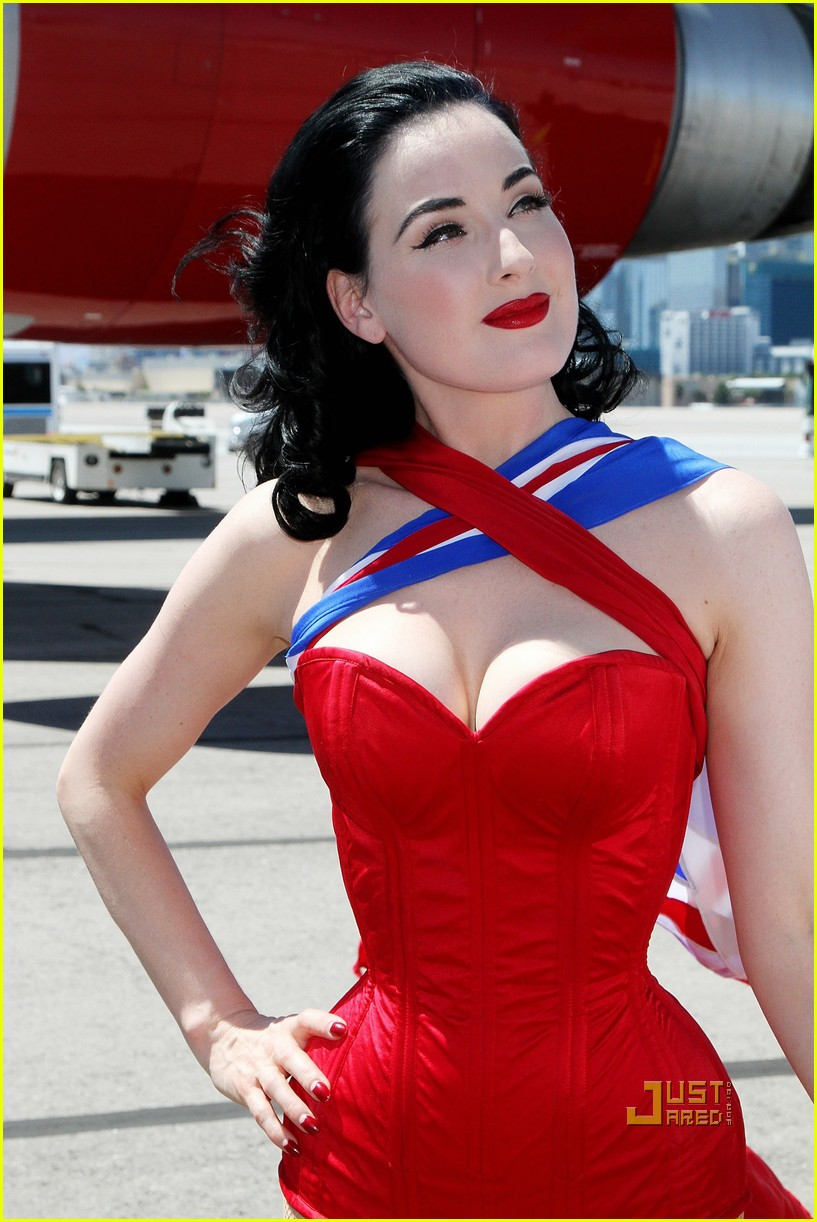 dita von teese virgin atlantic london to vegas 082459021