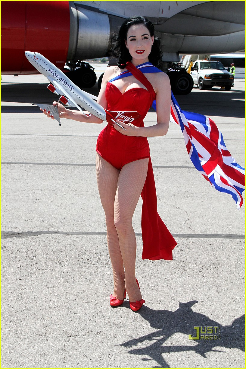 dita von teese virgin atlantic london to vegas 112459024