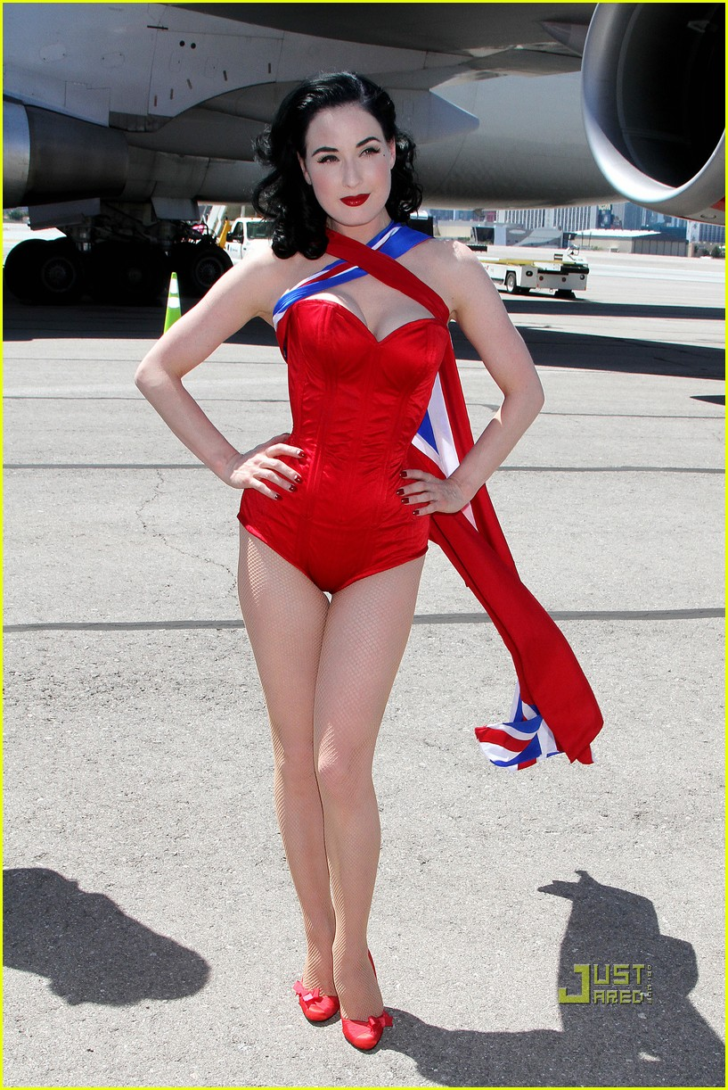 dita von teese virgin atlantic london to vegas 132459026