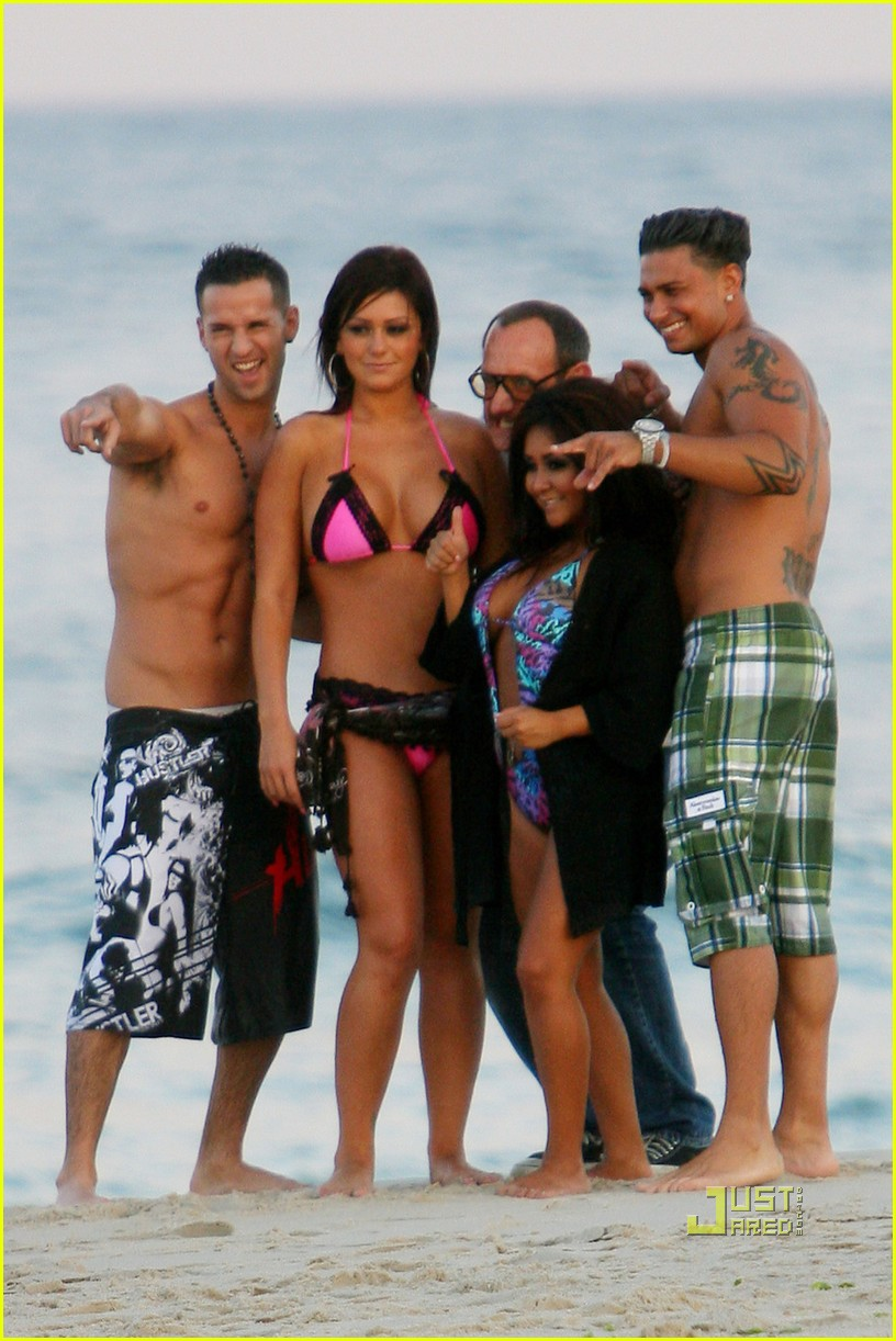 jersey shore cast beach photo shoot 11