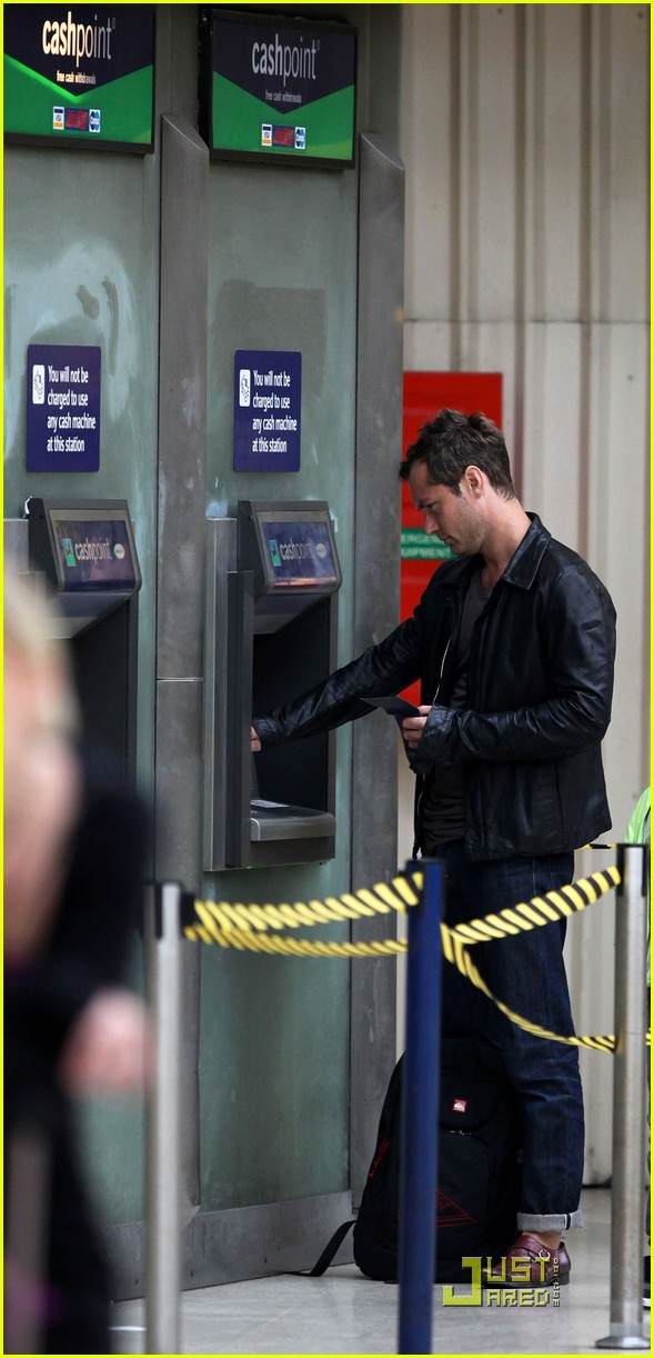 jude law is at the atm 032455321