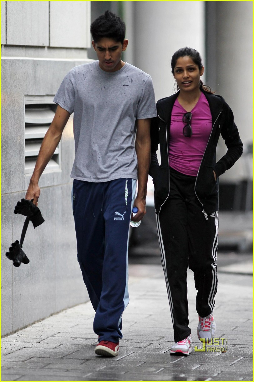 Full Sized Photo of freida pinto dev patel montreal ... Freida Pinto Boyfriend