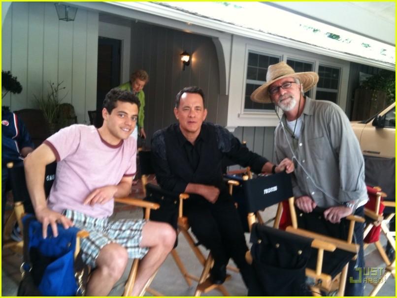 نتيجة بحث الصور عن Tom Hanks + Rami Malek
