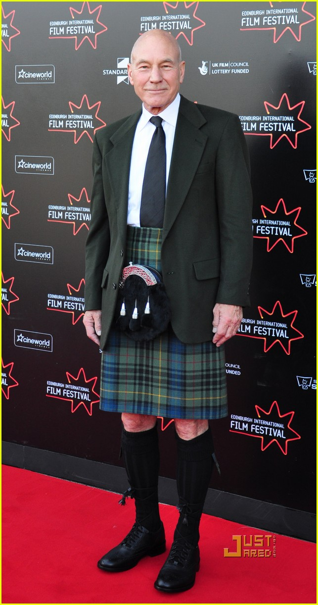 patrick stewart kilt edinburgh film festival 07