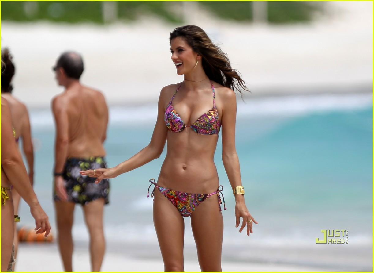 alessandra ambrosio bikini st barts 122468181