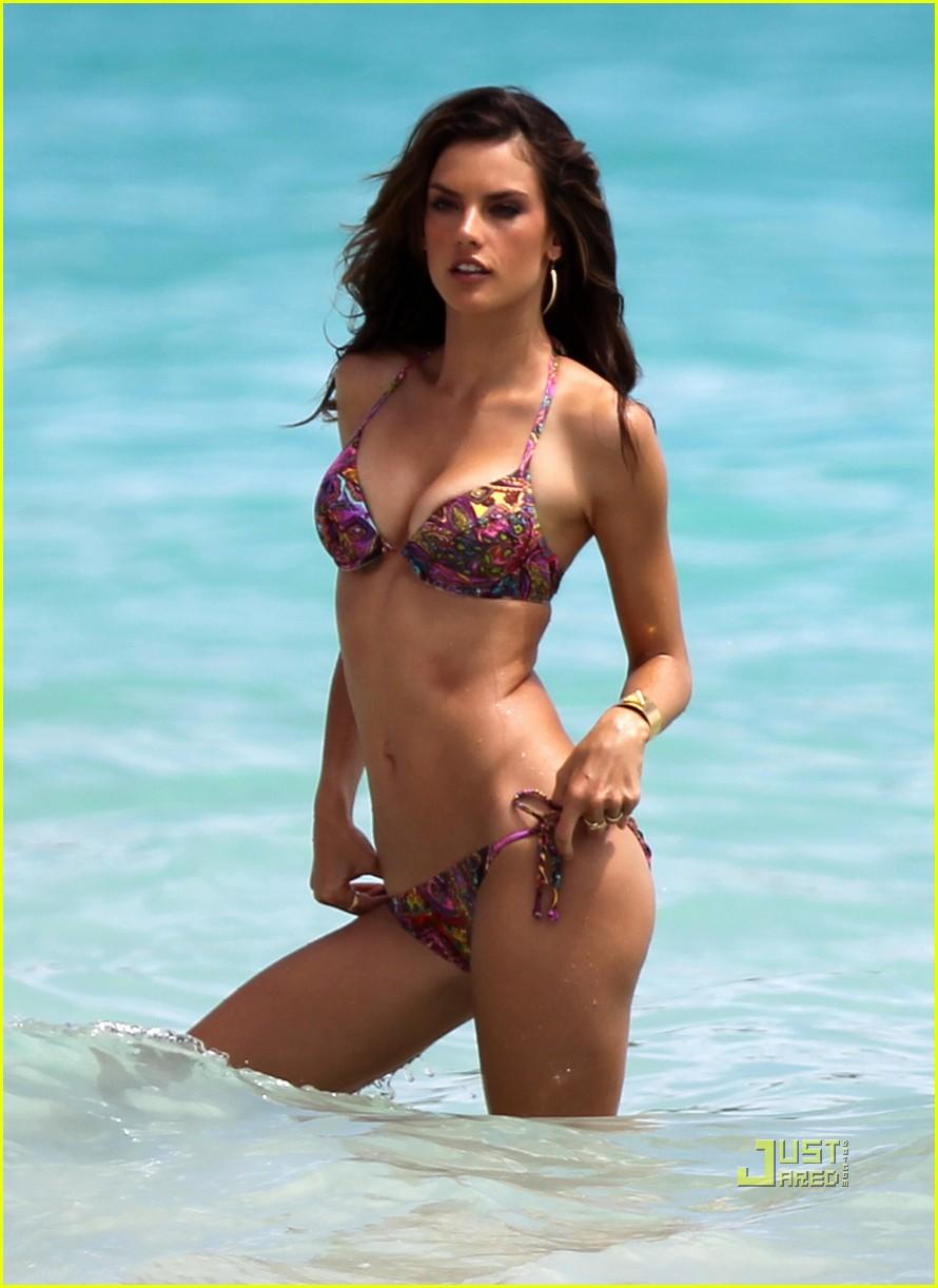 alessandra ambrosio bikini st barts 132468182