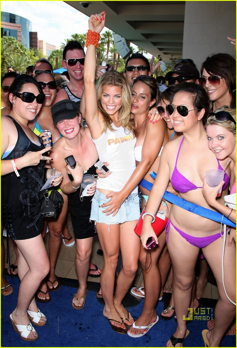 annalynne mccord birthday pool party with kellan lutz photo