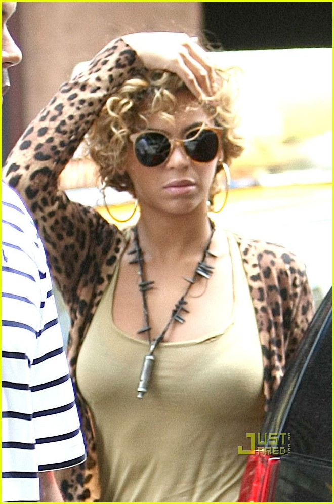beyonce leopard print top nyc 012467296