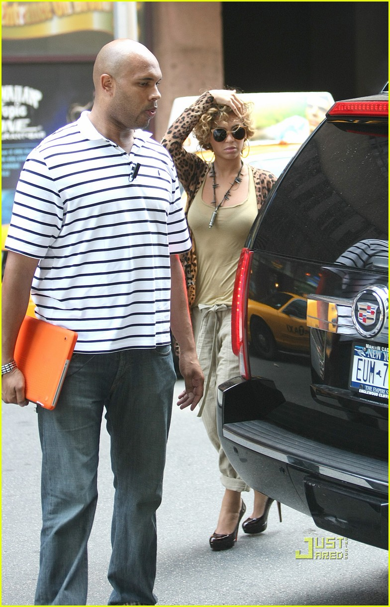 beyonce leopard print top nyc 022467297