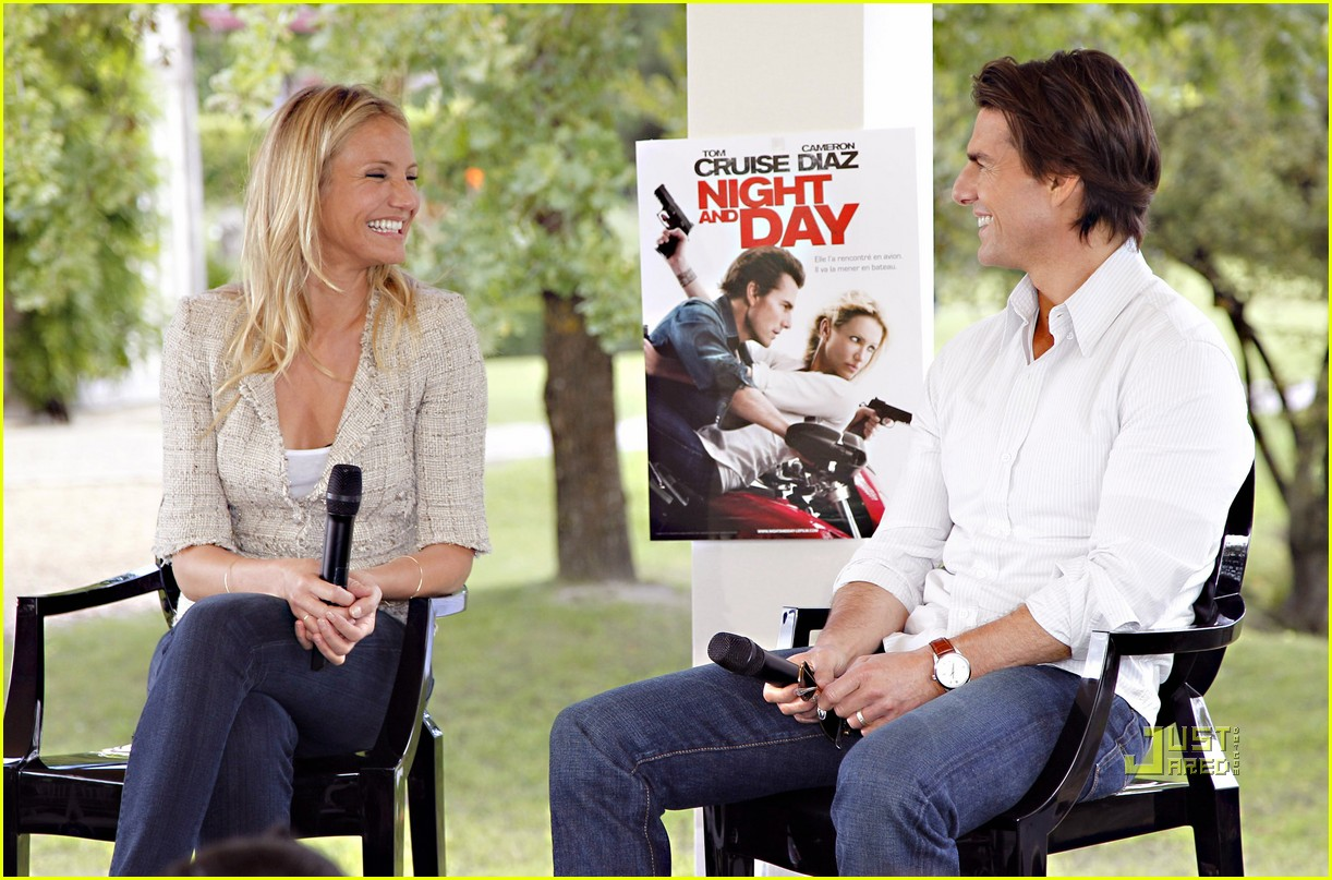 tom cruise cameron diaz martillac france press conference 122468432
