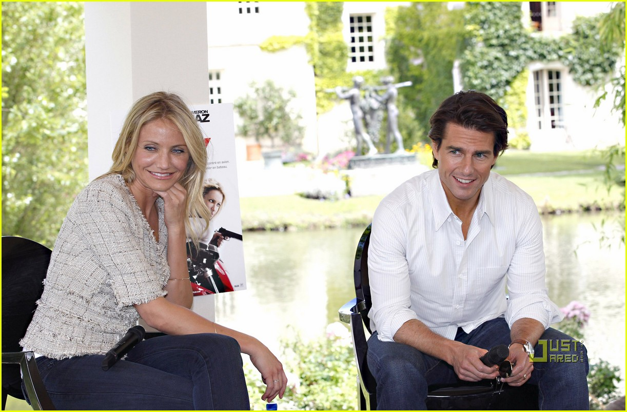 tom cruise cameron diaz martillac france press conference 13