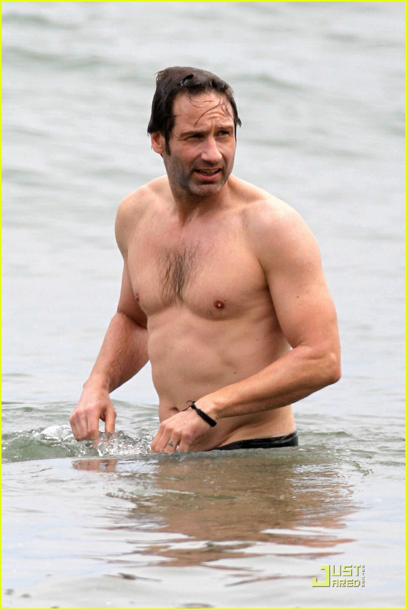 david duchovny shirtless independence 032463971