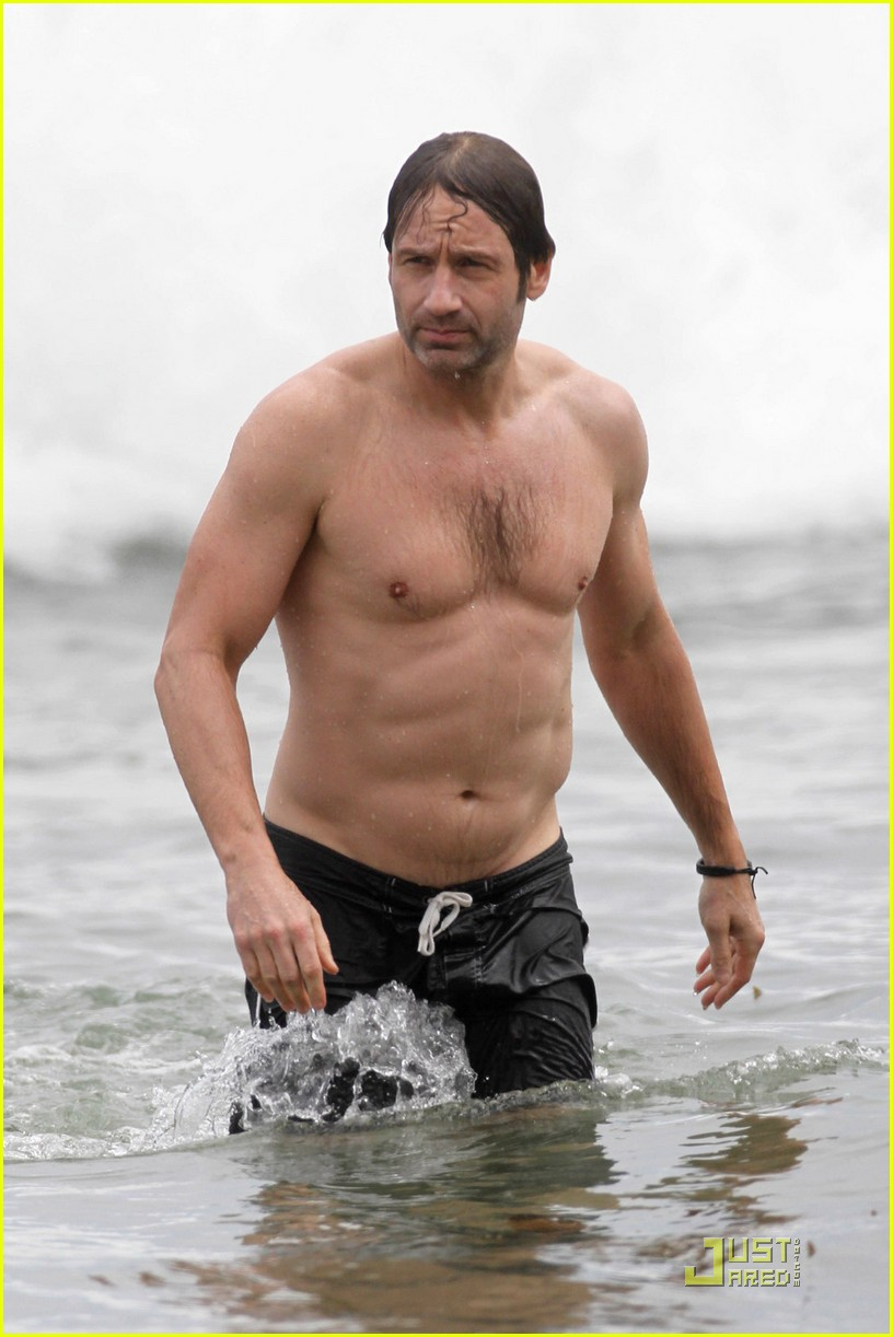 david duchovny shirtless independence 06