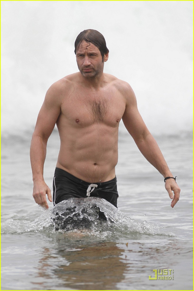 david duchovny shirtless independence 092463977