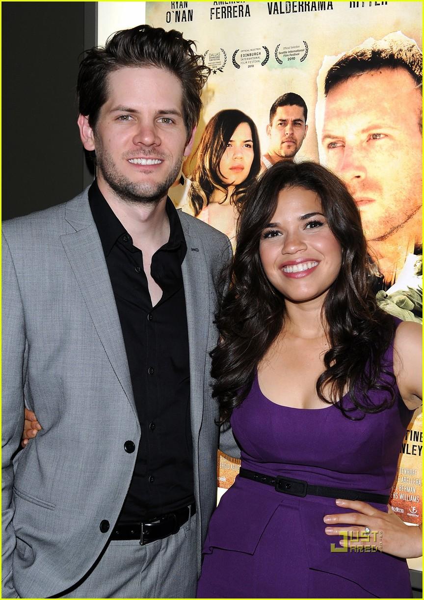 America Ferrera with cool, Husband Ryan Piers Williams