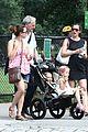 jennifer garner victor garber seraphina violet central park 19
