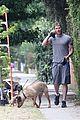 kellan lutz walking dogs grey shirt 15