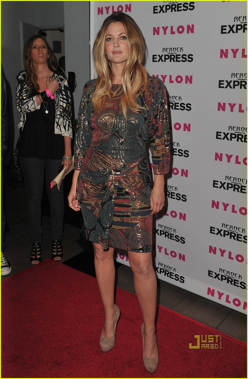 drew barrymore nylon express denim issue party 082472676