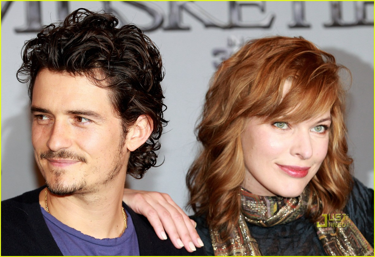 orlando bloom milla jovovich three musketeers filming photocall 02