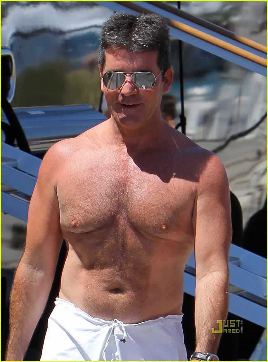 simon cowell chest hair 022471864