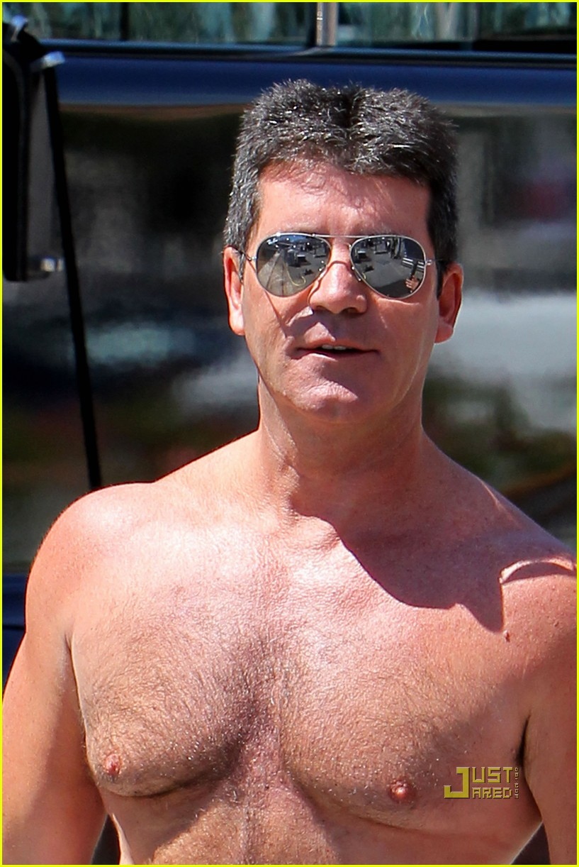 simon cowell chest hair 122471874