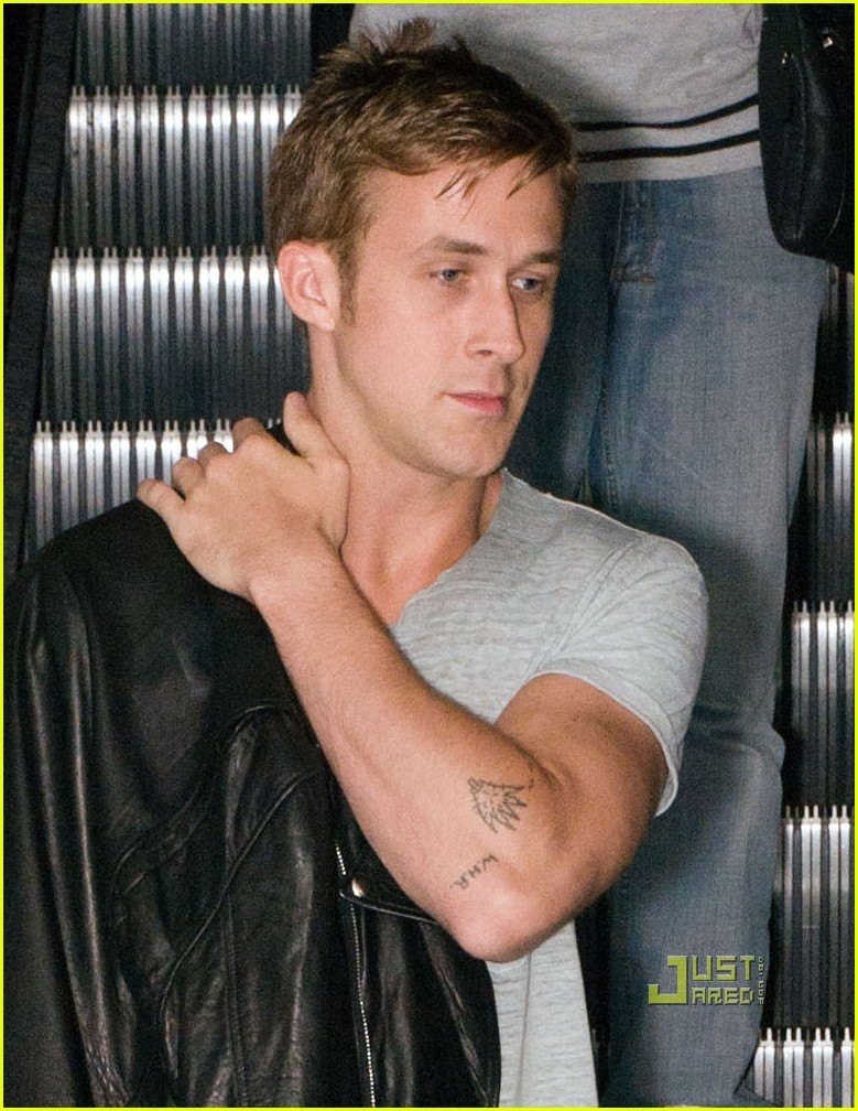 ryan gosling elbow tattoos 032472303