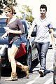 ashley greene joe jonas grabs a cup 07