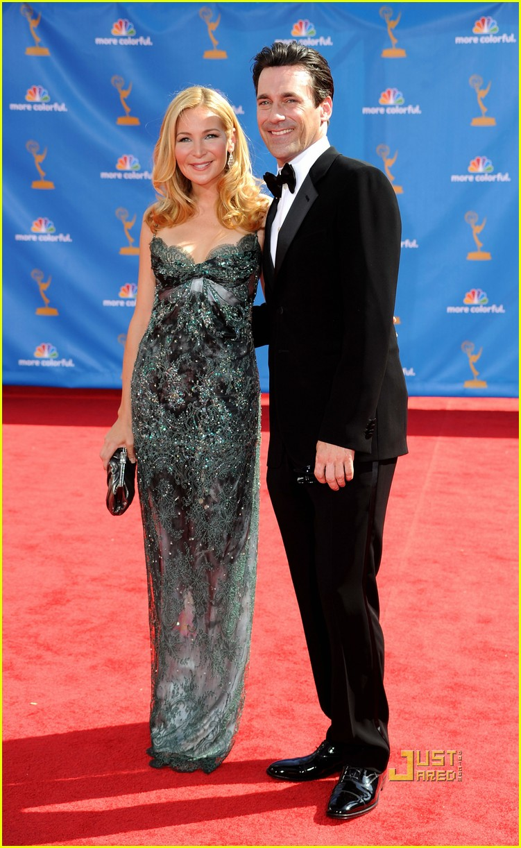 jon hamm jennifer westfeldt emmys 2010 red carpet 032476141