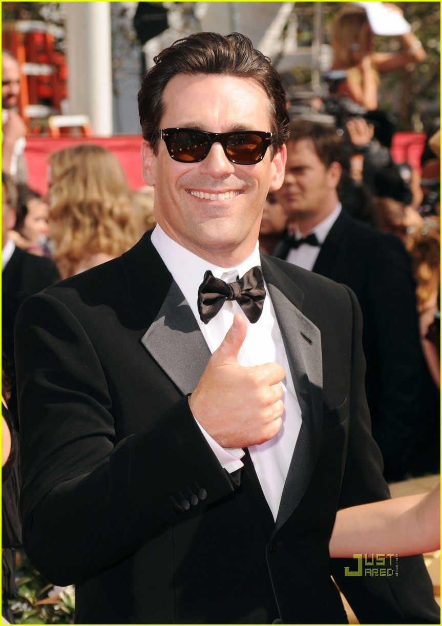 jon hamm jennifer westfeldt emmys 2010 red carpet 042476142