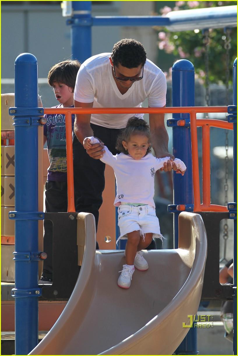 jennifer lopez swinging and sliding with family 092472513
