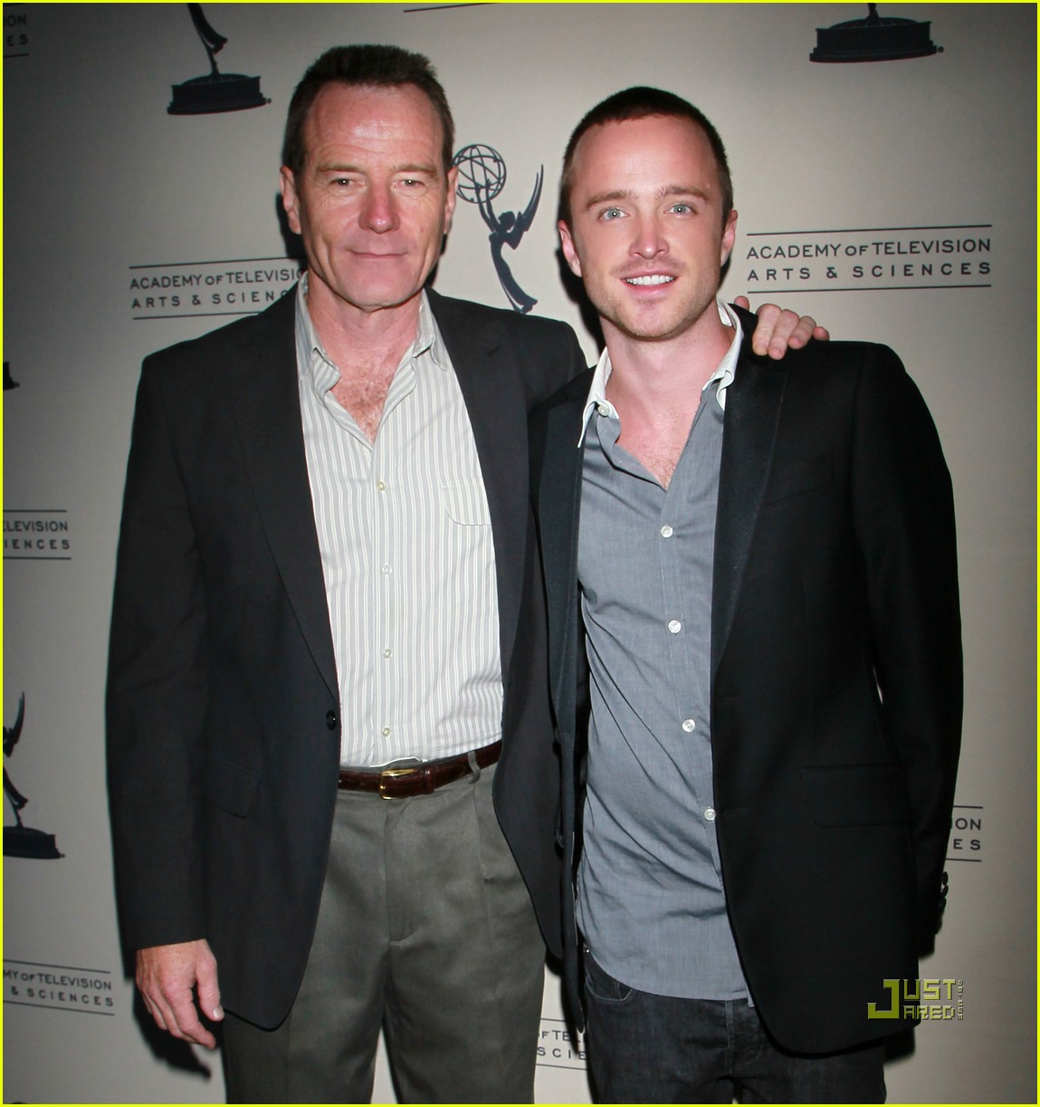 aaron paul bryan cranston television arts and sciences peer emmy reception 042471622
