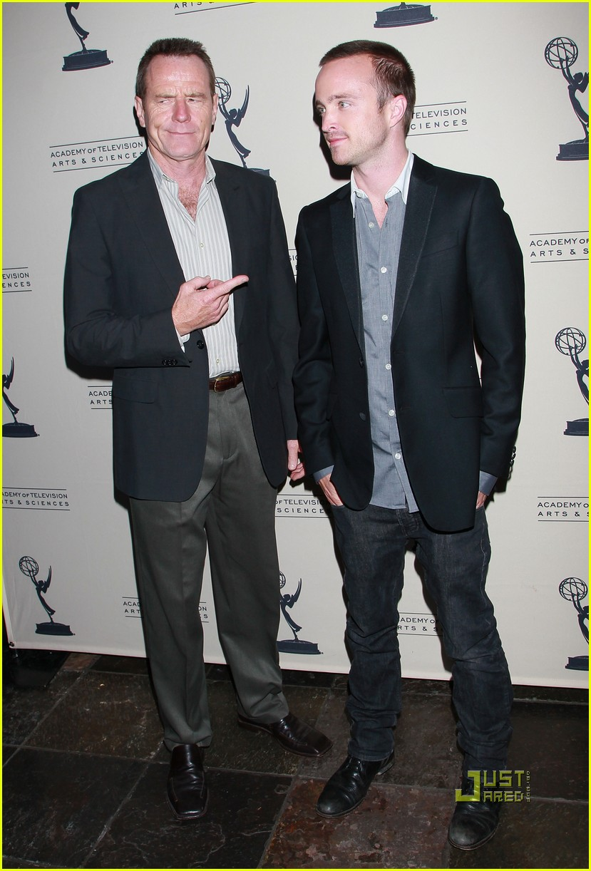 aaron paul bryan cranston television arts and sciences peer emmy reception 102471628
