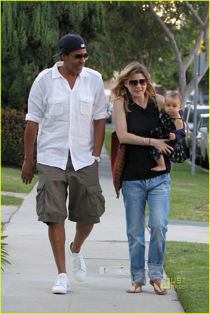 ellen pompeo chris ivery happy family with stella 032472214