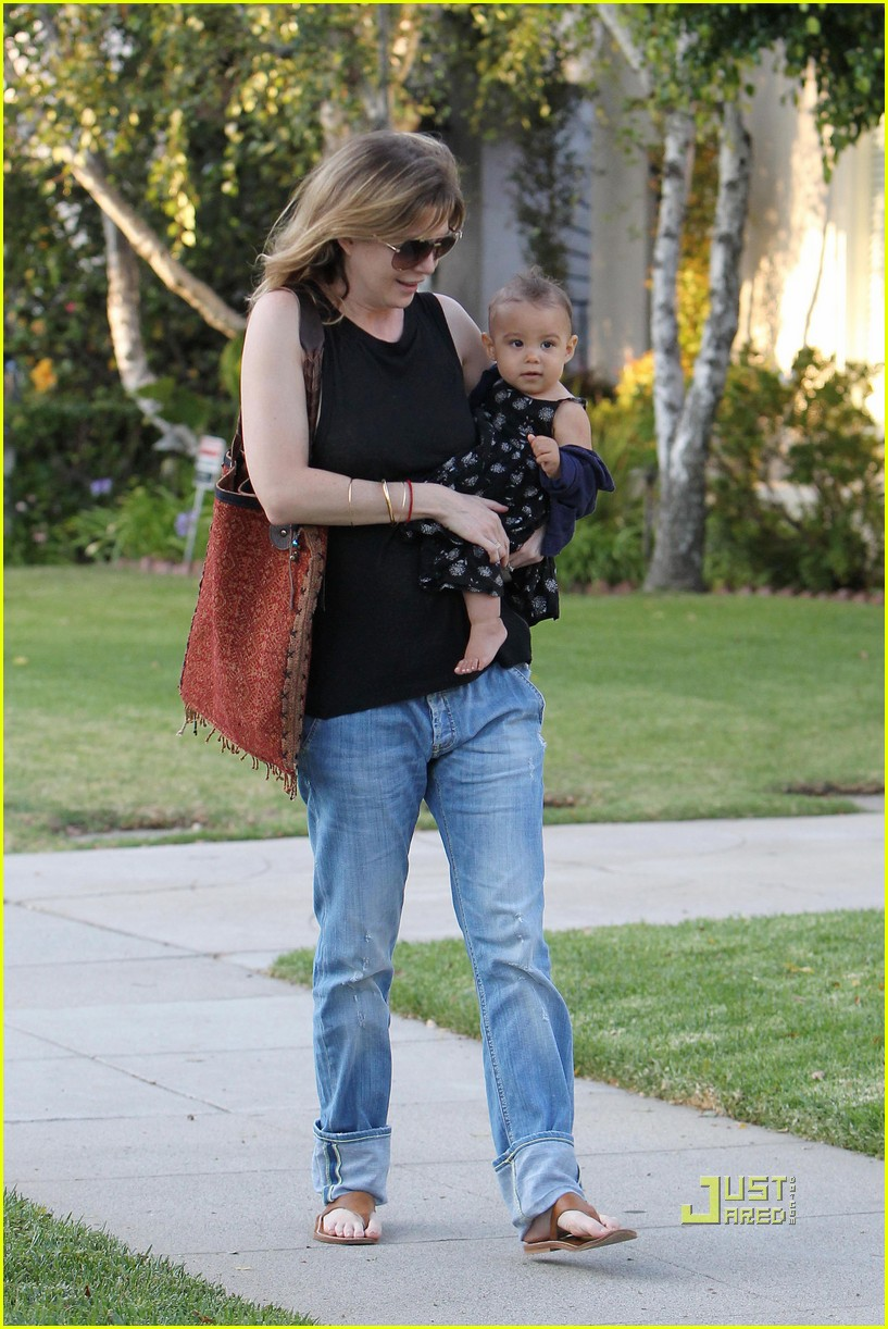 ellen pompeo chris ivery happy family with stella 102472221
