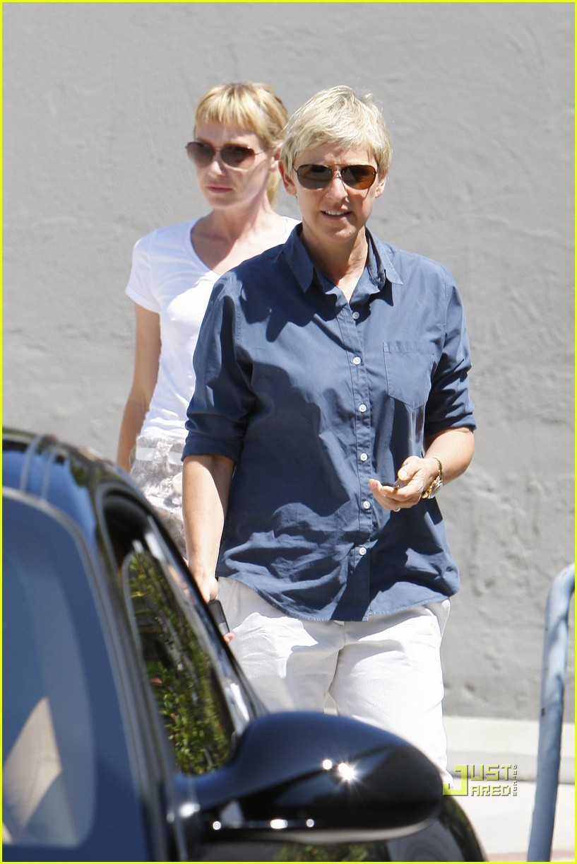 ellen degeneres portia de rossi art galleries hollywood 072476011