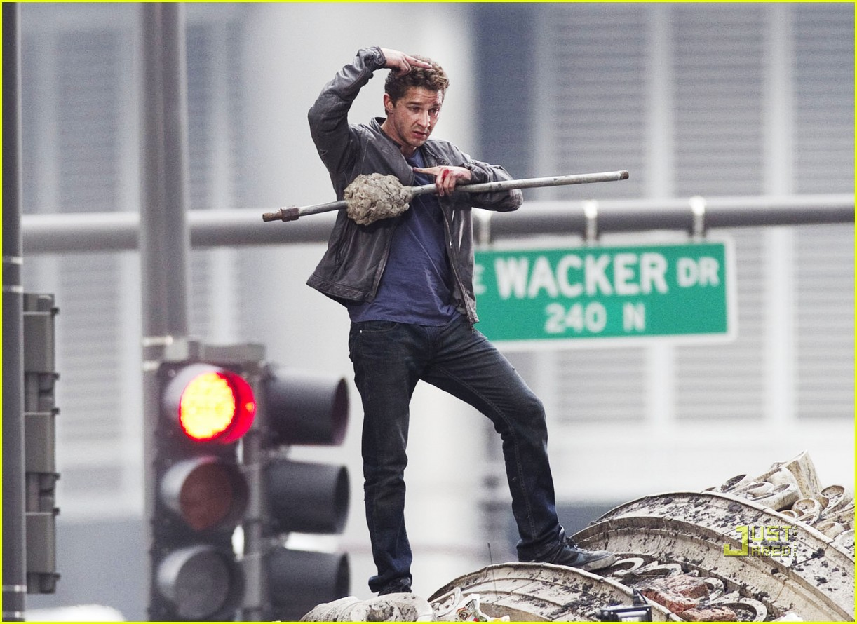 shia labeouf transformers 3 funny face action sequences 022470862