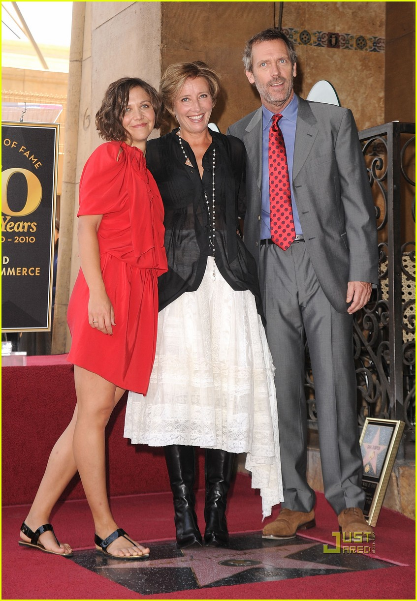 hugh laurie emma thompson maggie gyllenhaal walk of fame 03