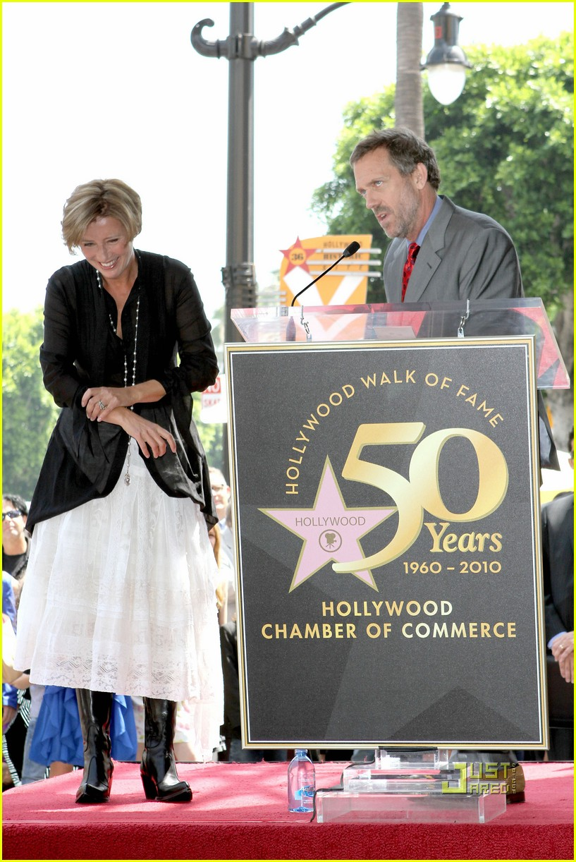 hugh laurie emma thompson maggie gyllenhaal walk of fame 052471777