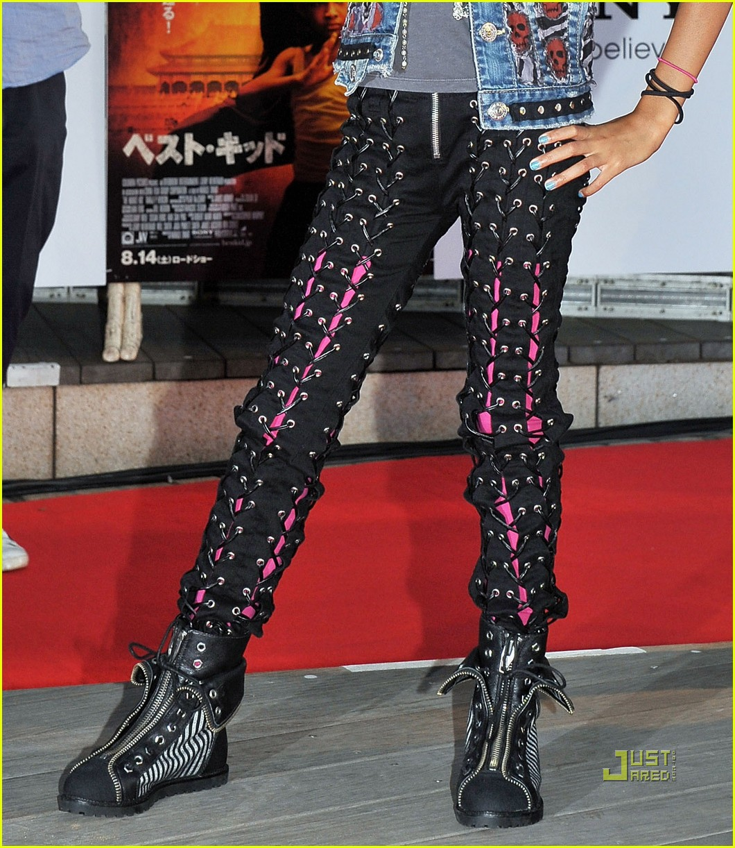 willow smith lace up pants 05