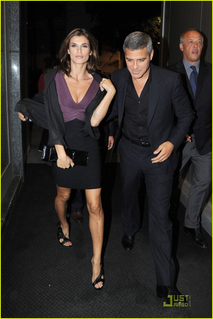 George Clooney & Elisabetta Canalis: Nobu Night: Photo 2483340 ...